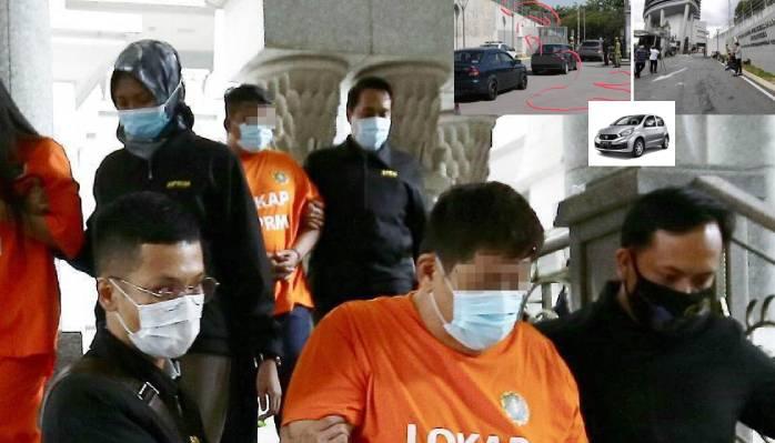Kntoi Datuk Seri Macau Scam lompat pagar dengan bantuan 2 orang sebelum menaiki Myvi