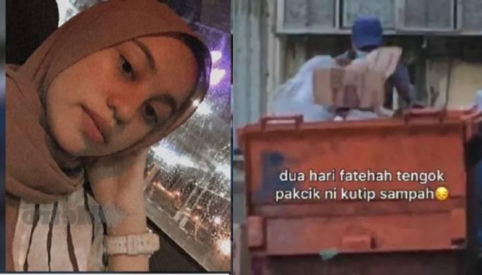 Dua hari cari makan dalam Tong Sampah, Makan ye Pakcik kata Fatehah